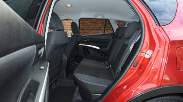The S-Cross is quite narrow so space across the rear seats is at a premium