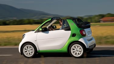 The 81bhp electric motor provides brisk acceleration away from traffic lights
