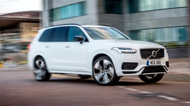 Volvo XC90 Recharge driving - front view