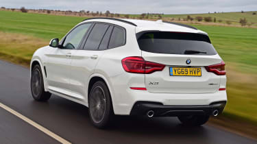 BMW X3 - rear 3/4 passing