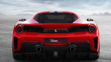 Ferrari 488 Pista rear