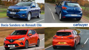 Dacia Sandero vs Renault Clio - hero