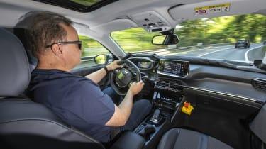 2020 Peugeot 2008 prototype - interior driving view