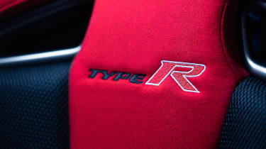 Honda Civic Type R GT seat detail