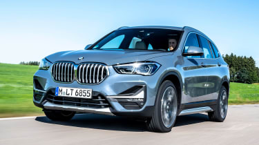 BMW X1 SUV front 3/4 tracking
