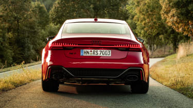 Audi RS7 static - rear end view