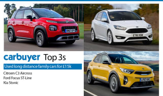 Top 3 used long distance family cars for £15k