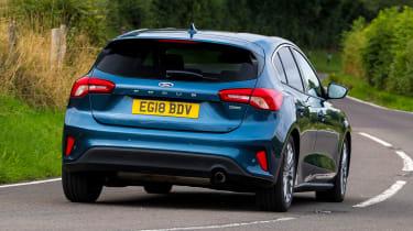 Ford Focus hatchback rear driving