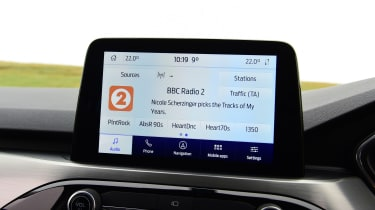 Ford Kuga SUV infotainment display