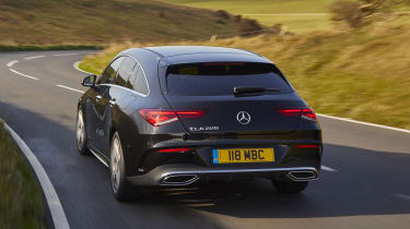 Mercedes CLA Shooting Brake cornering - rear