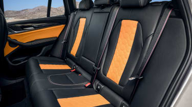 BMW X3 M Competition SUV rear seats