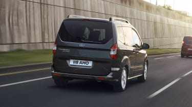 Ford Tourneo Courier driving - rear view