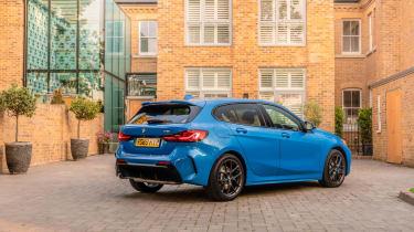 BMW 118i M Sport - static rear 3/4 view
