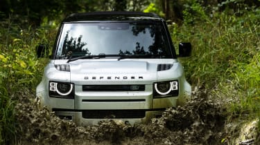 2020 Land Rover Defender 90 - front on view off-roading