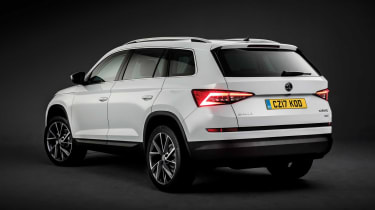 Sharp design of the rear light clusters give the Skoda Kodiaq a distinctive look