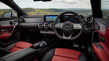 Mercedes CLA saloon dashboard
