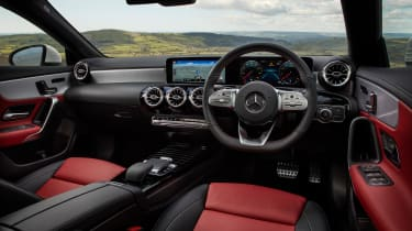 Mercedes CLA saloon dashboard