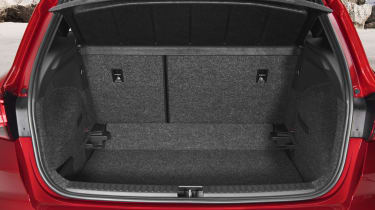 The 400-litre boot can only be expanded by dropping the rear seatback...