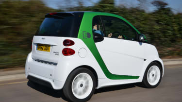 Smart ForTwo ED - Rear 3/4 view