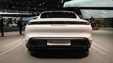 Porsche Taycan - Rear view at Frankfurt