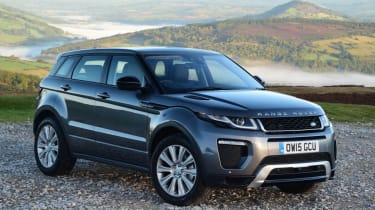 This is the extremely successful Range Rover Evoque SUV...