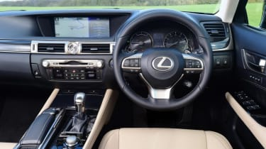 Interior quality is beyond reproach, and many will find the GS' dashboard has a certain character its rivals lack