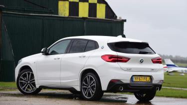 BMW X2 SUV rear 3/4 static