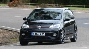 Volkswagen up! GTI hatchback front cornering