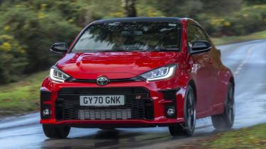 Toyota GR Yaris hatchback front driving