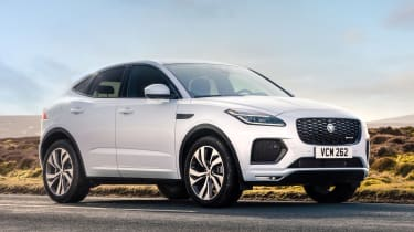 Jaguar E-Pace SUV review front 3/4 static