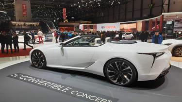 Lexus LC Convertible concept Geneva rear quarter