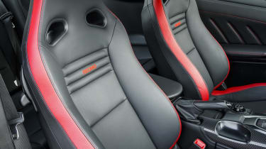 Nissan GT-R coupe front seats