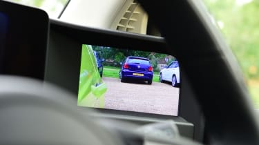 Honda e hatchback side camera display