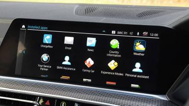 BMW X5 xDrive45e SUV infotainment display