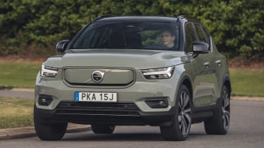 Volvo XC40 Recharge P8 SUV front driving
