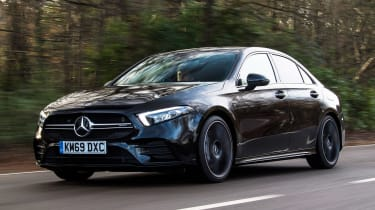 Mercedes-AMG A 35 Saloon front 3/4 tracking