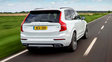 Volvo XC90 Recharge driving - rear view