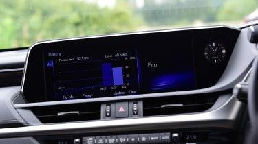 Lexus ES saloon dashboard