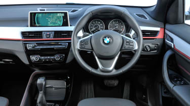 It has a well-designed, well-equipped interior with sat nav as standard
