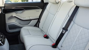 Audi S8 saloon rear seats