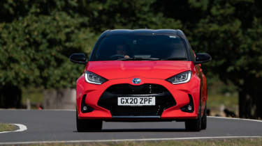 Toyota Yaris hatchback front driving