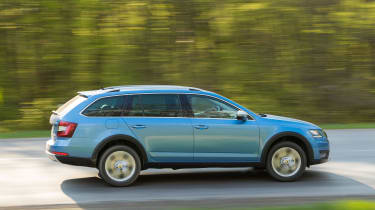 Four-wheel drive is standard with the Scout, and Skoda offers two engines