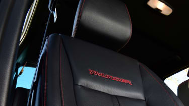 Ford Ranger Thunder - front seats close up