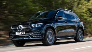 Mercedes GLE SUV front 3/4 tracking