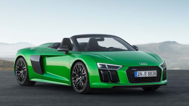 The Audi R8 Spyder V10 Plus is the fastest convertible in the brand's history