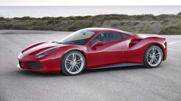 The Ferrari 488 GTB is arguably Ferrari's core model. Its 3.9-litre engine uses two turbochargers to help it produce 661bhp