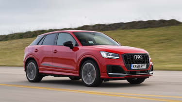 Audi SQ2 SUV side tracking