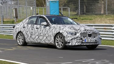 2021 Mercedes C-Class testing at the Nurburgring - Front passing