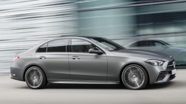 2021 Mercedes C-Class driving - side view