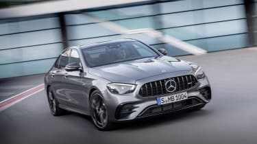 Mercedes-AMG E53 saloon driving - front view